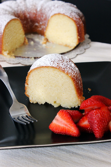 Vanilla Pound Cake with Strawberry Glaze