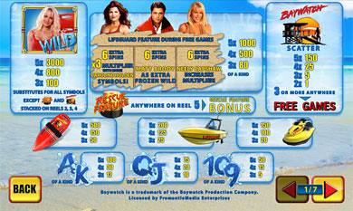 free Baywatch slot mini symbol