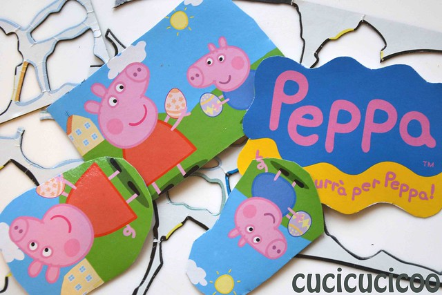 scrap of magnets to be glued onto the backs of peppa pig paper pieces
