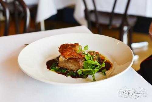 Pork belly, celeriac remoulade & ravigote dressing