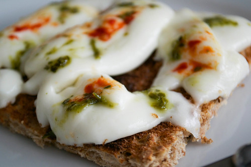 herby mozzarella toasts