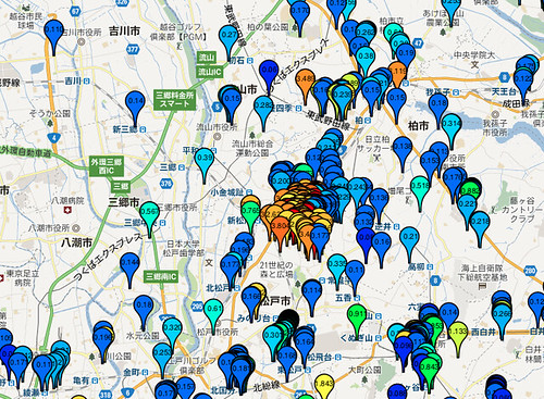 なぜ千葉県の柏あたりが放射線量が高いんでしょうか??