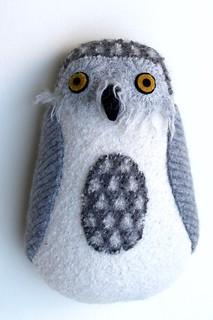 shaggy snowy owl