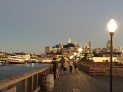 sunset at fisherman's wharf: san francisco, ca