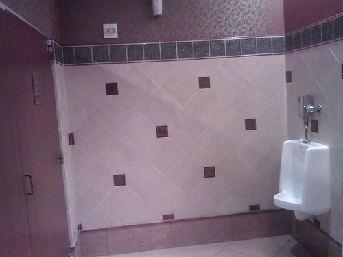 Commercial ceramic tile bathroom at a casino