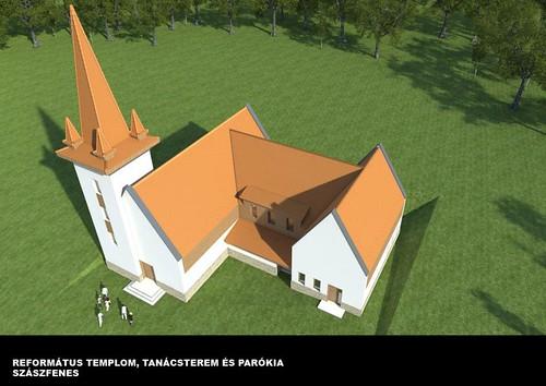 Szászfenes új református temploma