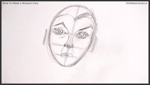 learn how to draw a womans face 016