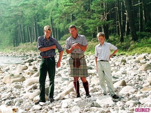 1997 Wills, Charles and Harry in Balmoral. August 1997