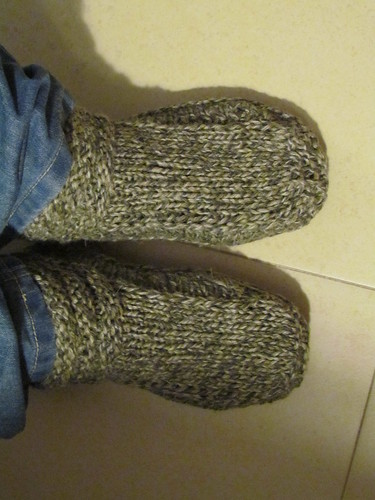 Non-felted Slippers