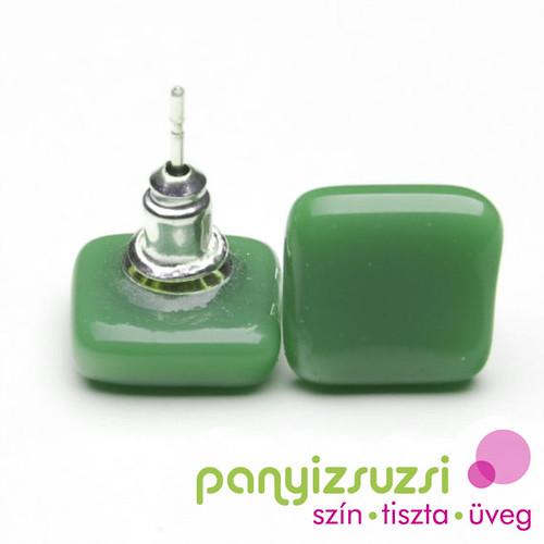 smaragdzöld  fülbevaló