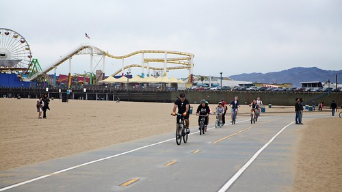 New Beach Path Markings in Santa Monica