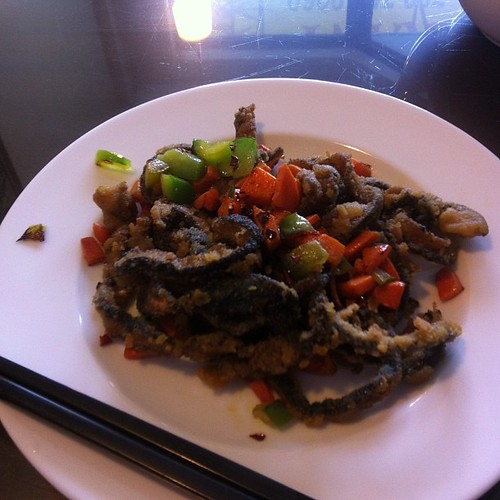 Salty and crispy shiitake #yegfood by raise my voice