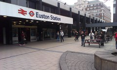 Euston Station with Learning Tree building