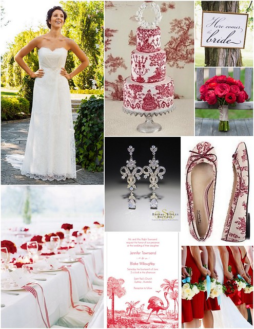 Red Toile - Spring Wedding Inspiration