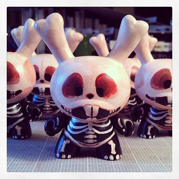 The Abominable Dr. Dunny for the Vinyl Thoughts Nation blind box series by yours truly. #dunny #vinylthoughts #kidrobot #abominable #blindbox