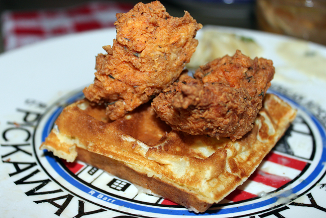 Vegetarian Chicken & Waffles at Sweet Chick, Williamsburg