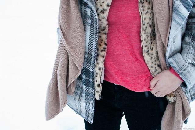 jacket leopard print vest