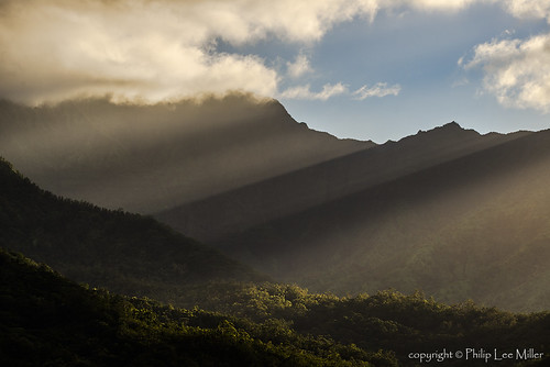 clouds landscape hawaii kauai lightrays pacificislands d600