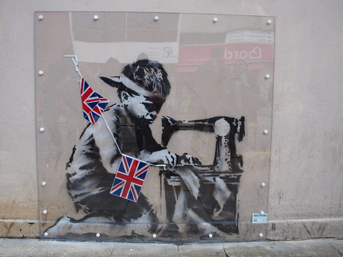 Banksy 'Slave Labour', Wood Green London (2012)