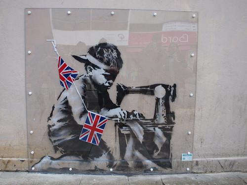 Banksy 'Slave Labour', Wood Green London (2012)