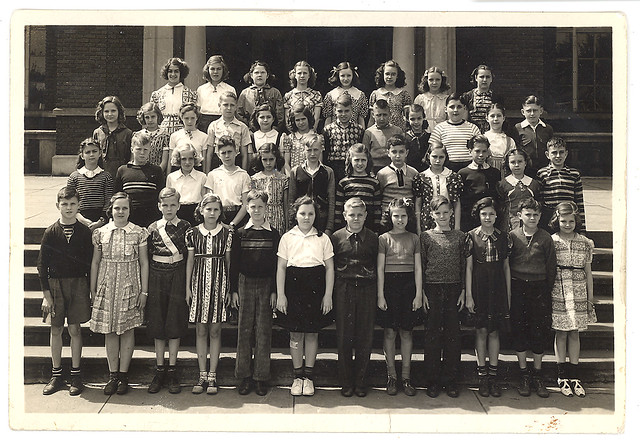 2.21 vintage photograph school children
