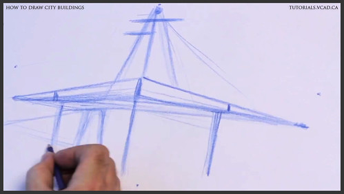learn how to draw city buildings 006