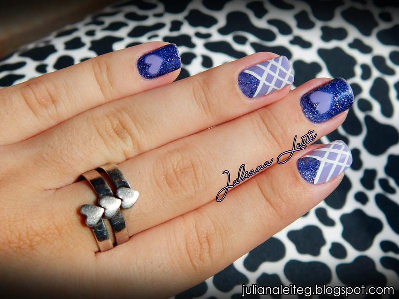 nail art juliana leite lilás amor love coração glitter decorada 015