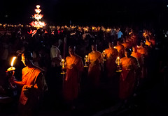 Candle-Lit Procession at the YeePeng Festival in Sansai Thailand 8