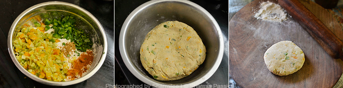 How to make vegetable paratha - Step2