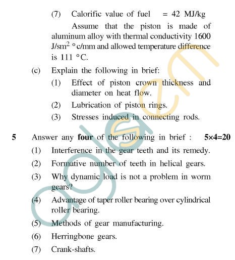 UPTU B.Tech Question Papers - TME-603 - Machine Design-II