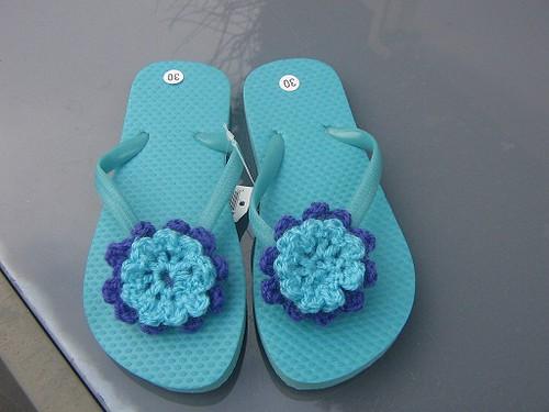 slippers met bloem by bijleonie