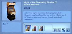 Night of the Shambling Shades IV Arcade Machine