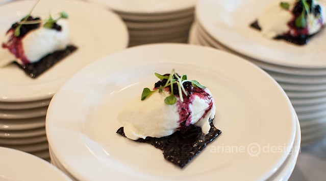 Flavours of the Festival/The Pointe at Wickaninnish Inn's dark chocolate, vanilla foam, Cynamoka berries