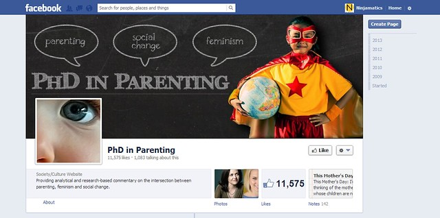 PhD in Parenting Facebook banner and avatar