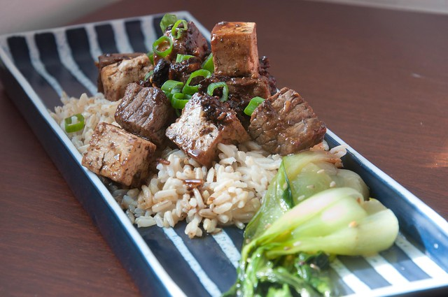 Black Garlic Sauce with Spicy Beef and Tofu Stir-Fry | PopArtichoke