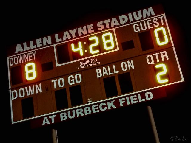 Lacrosse game scoreboard
