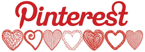 Pinterest logo with hearts