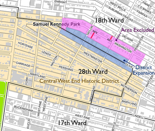 Central West End (East) Local Historic District Map
