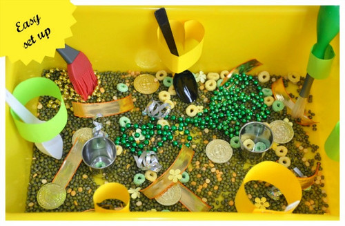 St. Patrick's Day Sensory Bin (Photo from Blog Me Mom)