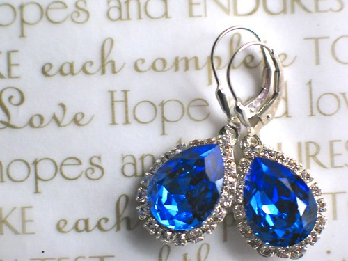 {Something Blue} Bridal Earrings by Nina Renee Designs