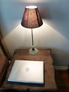Lamp on bedside table, paris