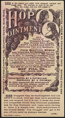 Hop Ointment, the national remedy for the skin. (back)