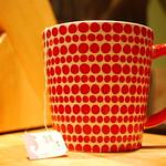 cute red mug