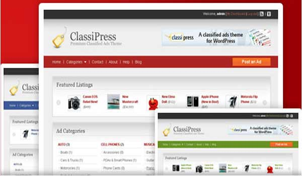 classified ads wordpress theme Classipress templatic