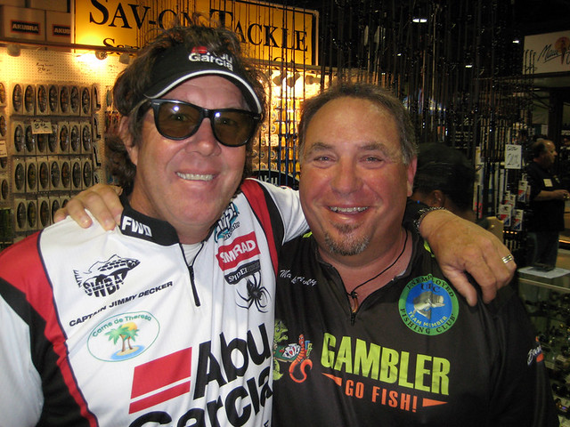 Caveman with saltwater rock star Jimmy Decker