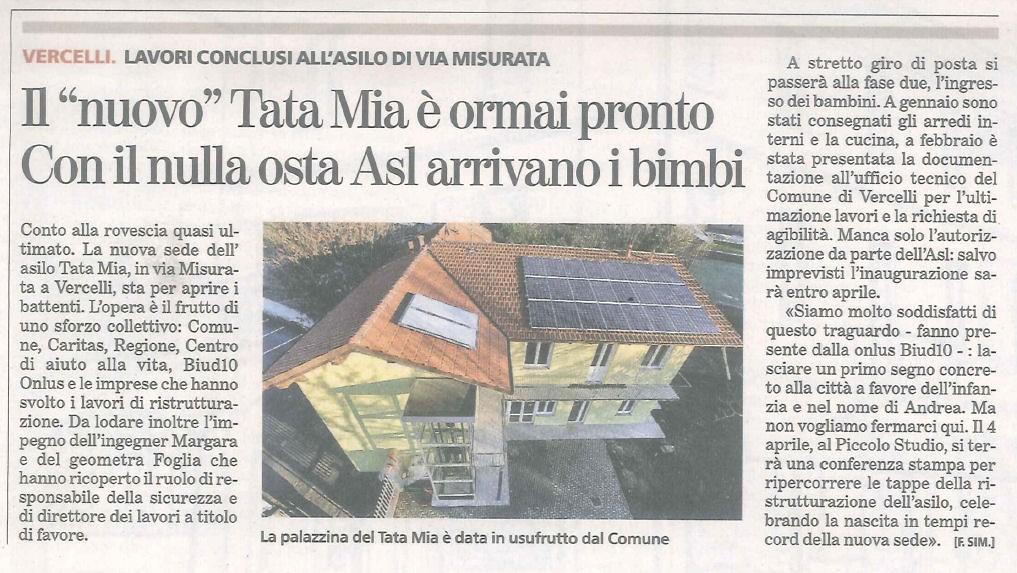 Articolo La Stampa 20-03-2013