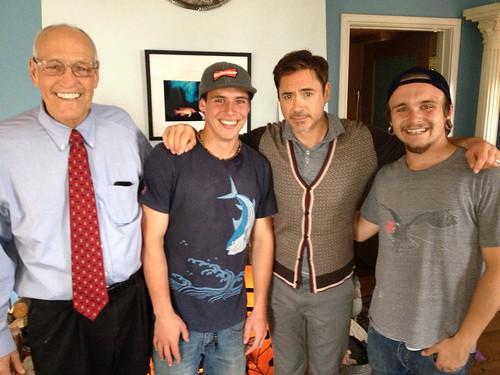 Robert Downey Jr Visits Bill Rosendahl at Home