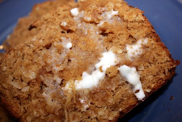 coconut bread slice