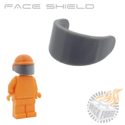 Face Shield - Dark Blueish Gray