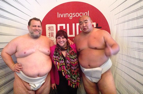 Sumo Wrestlers Kelly and Byamba with me